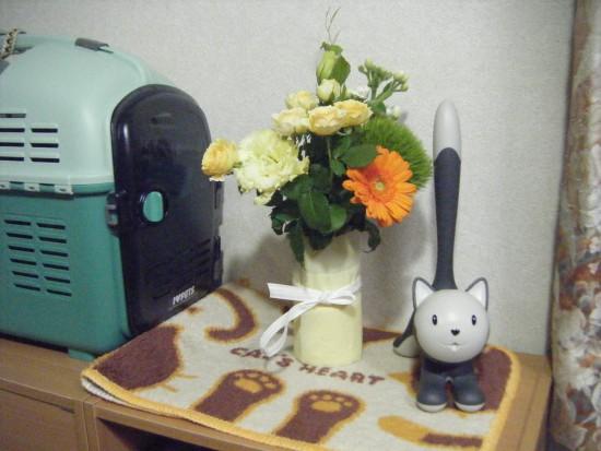 お花もどうもありがとう!