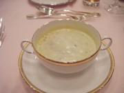 あさりと野菜のポタージュスープ 下茶碗蒸し。